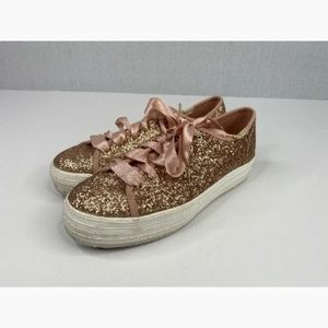 Keds For KATE SPADE NY Rose Gold Tennis Shoes